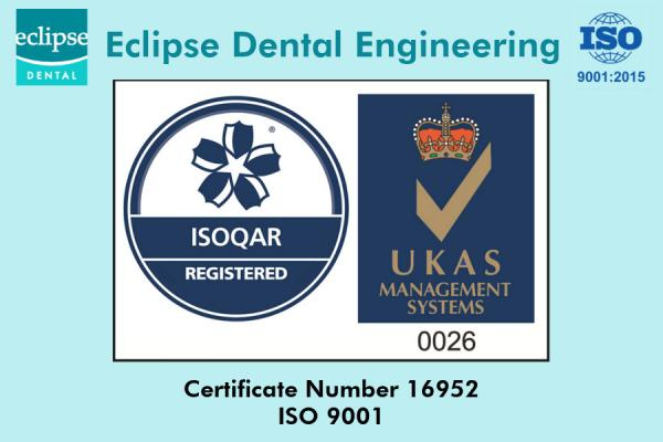 Eclipse Dental is now ISO 9001:2015 Certified