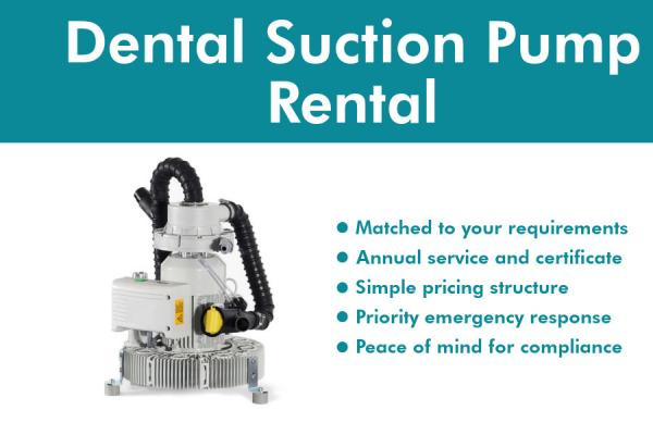 Dental Suction Pump Rental Packages