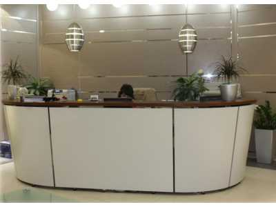 Tera Reception Desk Range - White/Walnut Top