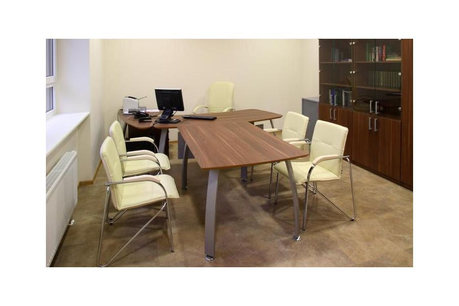 Ultima Walnut Desk And Cupboards With Glass Doors Eclipse Dental