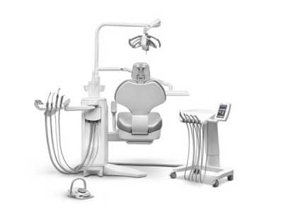 Ancar Sd-580 dental chair back view with backrest up