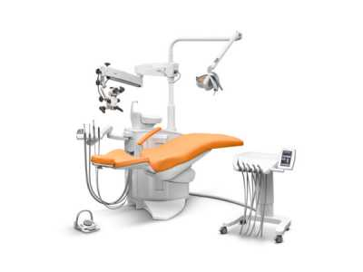 Ancar Sd-580 dental chair  backrest down and microscope